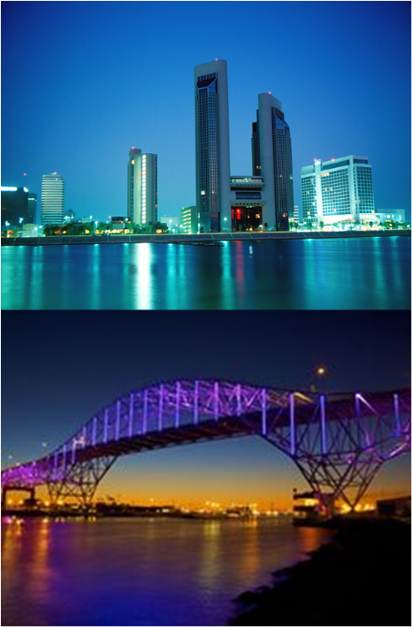 Corpus Christi Waterfront and Bridge