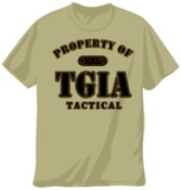 TGIA Tan Tactical T-Shirt S-2XL