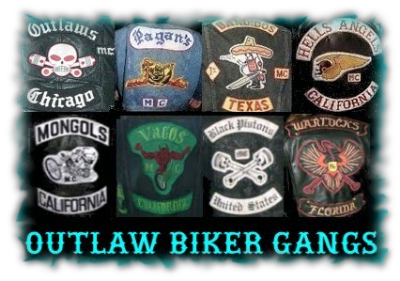 Outlaw Biker Gang Back Patches